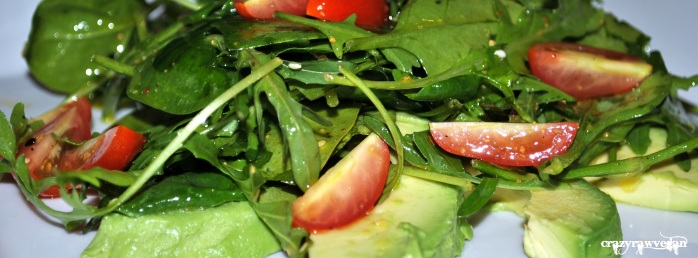 Simple Salad with Flax Oil