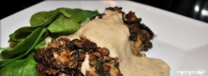 Mushroom and Lentil Loaf