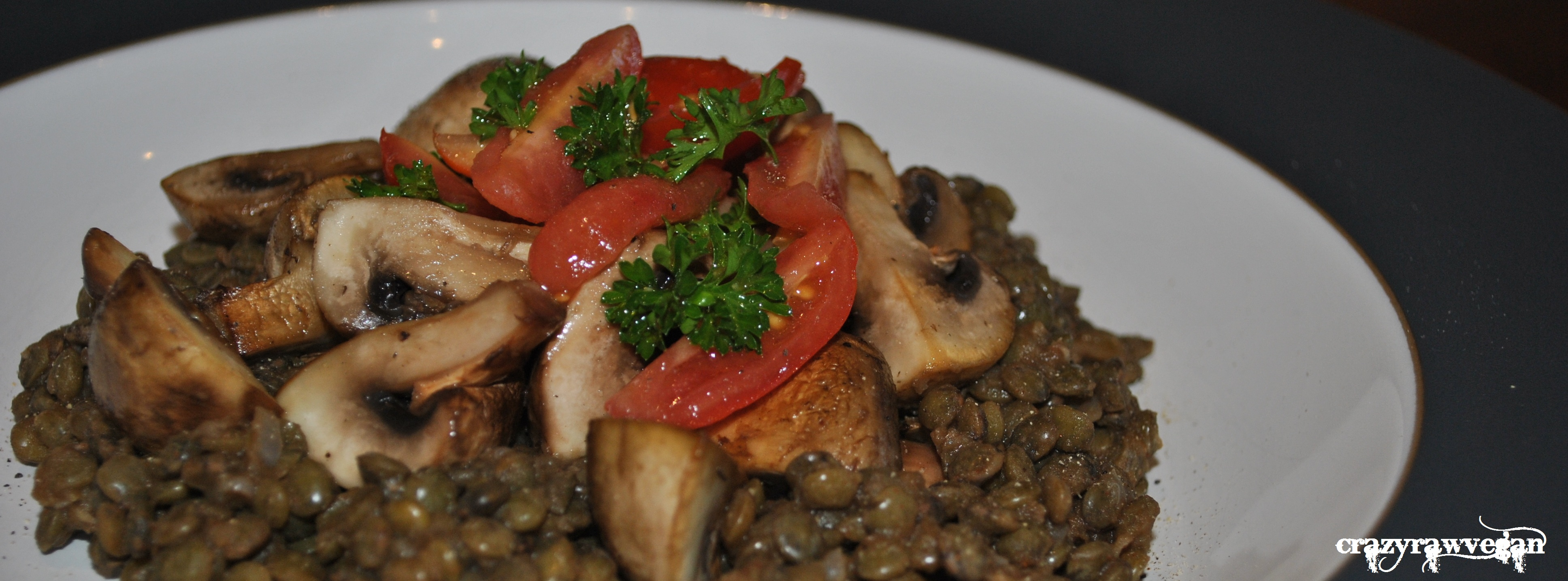 spanish lentils and mushroom stew | crazy raw vegan
