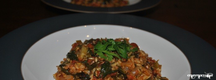 Spinach Vegetable Pilaf